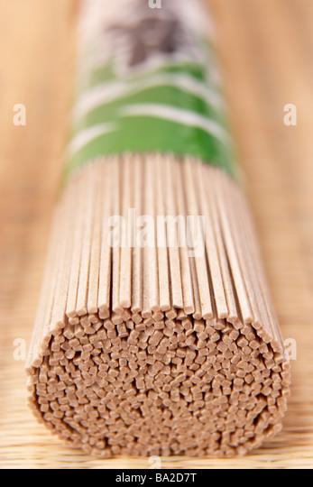 Bundle Of Soba Noodles - Stock Image