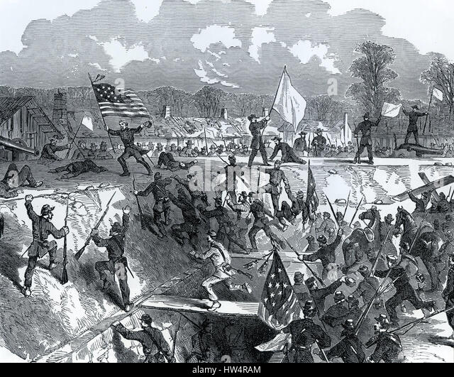 FORT HINDMAN, Arkansas, is captured by union forces on 11 January 1863 during the American Civil War - Stock-Bilder