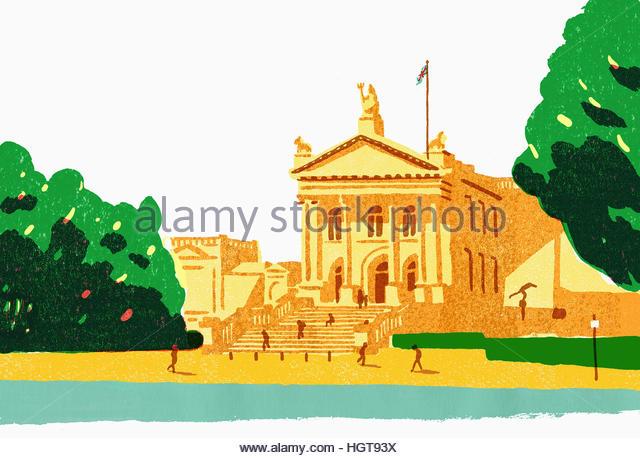 Illustration of Tate Britain Gallery, London - Stock-Bilder