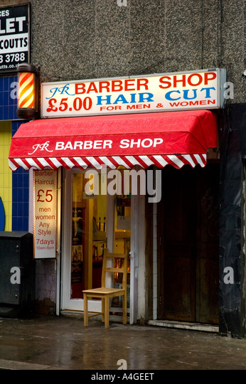 Sidewalk Barber Stock Photos & Sidewalk Barber Stock Images - Alamy