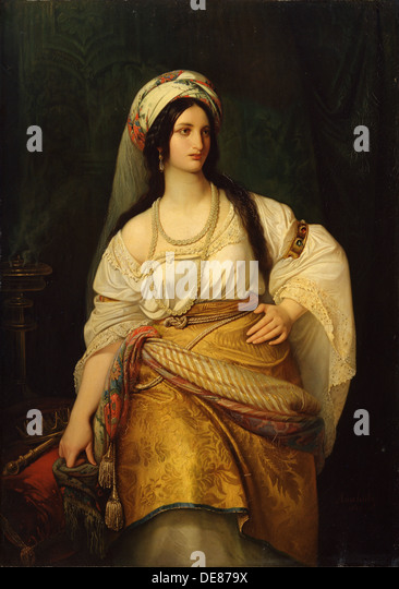 'Esther', 19th century.  Artist: Hermann Anschütz - Stock Image
