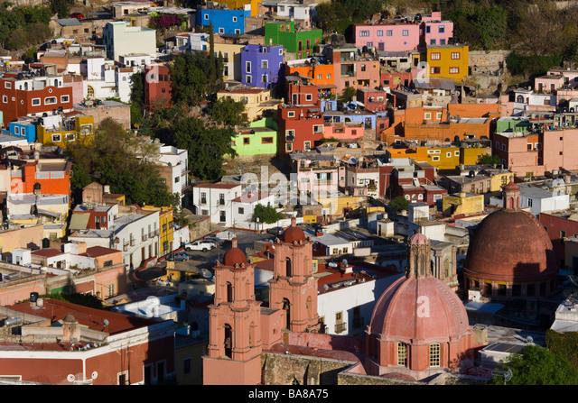 View over Guanajuato, Mexico - Stock Image