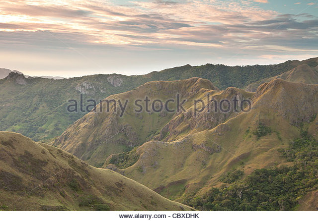 Beautiful landscapes in Altos de Campana national park, Panama province, Republic of Panama. - Stock-Bilder