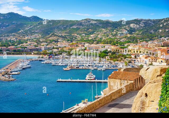 Calvi Marina, Balagne, Corsica Island, France - Stock Image