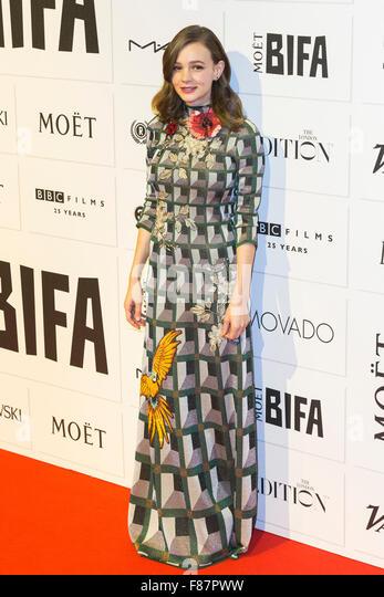 London, UK. 6 December 2015. Actress Carey Mulligan. Red carpet arrivals for the 2015 Moet British Independent Film - Stock Image