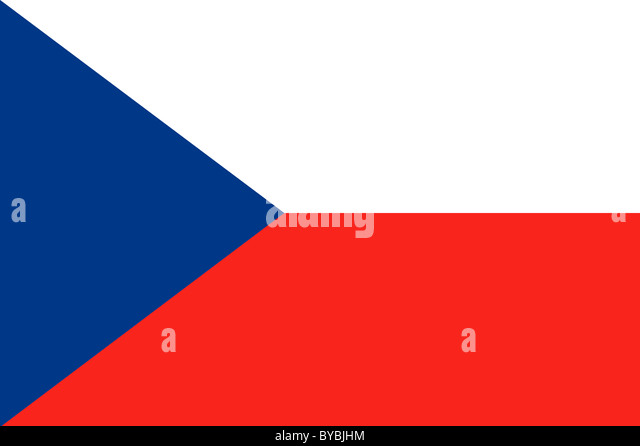 National flag of the Czech Republic. Illustration - Stock Image