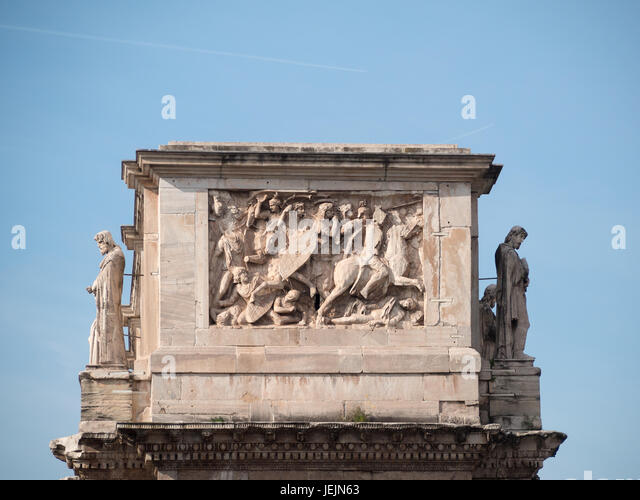 Constantine Arch sideview detail - Stock Image
