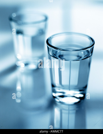 Close-up of glass of water - Stock Image