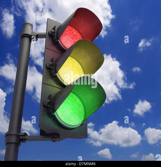 Traffic lights, artwork - Stock Image