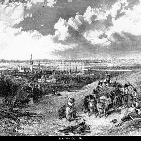BONN, Germany. 18th century engraving - Stock Image