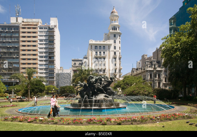 Plaza Fabini Montevideo Uruguay South America - Stock Image