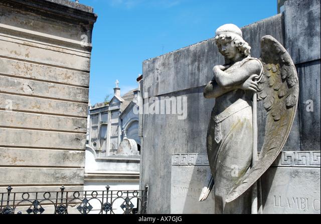 Grave in La Recoleta Cemetery, Buenos Aires, Argentina. - Stock Image