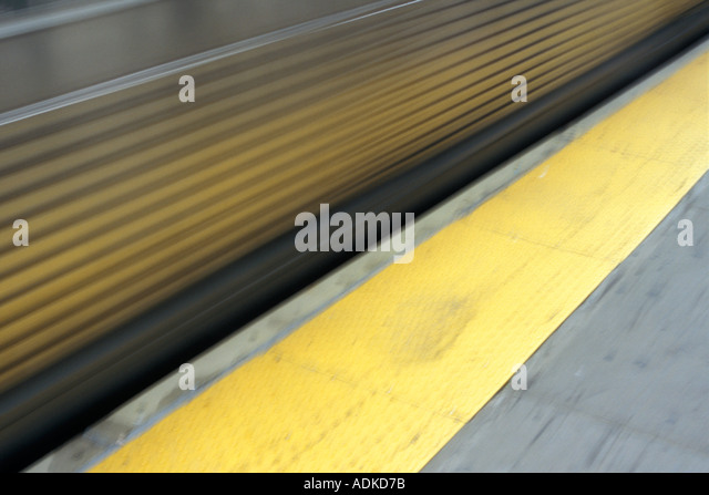 Yellow Safety Line - Stock Image