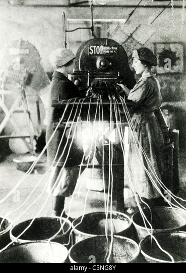 textile industry, England, 1900 - Stock Image