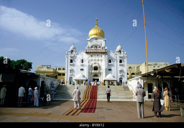 A Sikh temple, Delhi, India - Stock Image