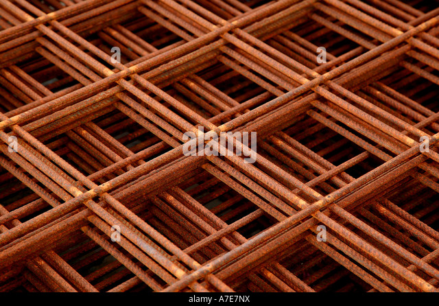 Stack of Steel Reinforcement Elements - Stock Image