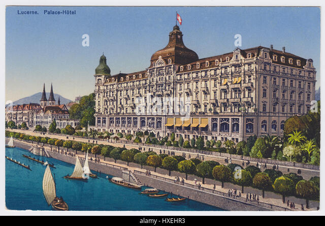 Palace Hotel, Lucerne, Switzerland - Stock Image