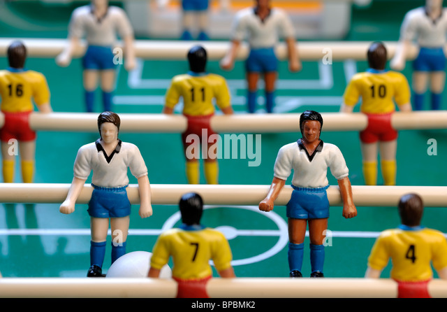Table football players - Stock-Bilder