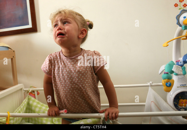1-3 YEARS OLD BABY CRYING - Stock Image