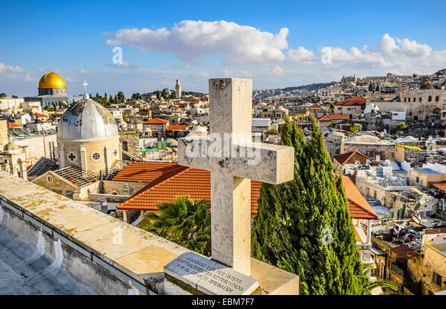 Jerusalem, Israel Old City cityscape. - Stock Image