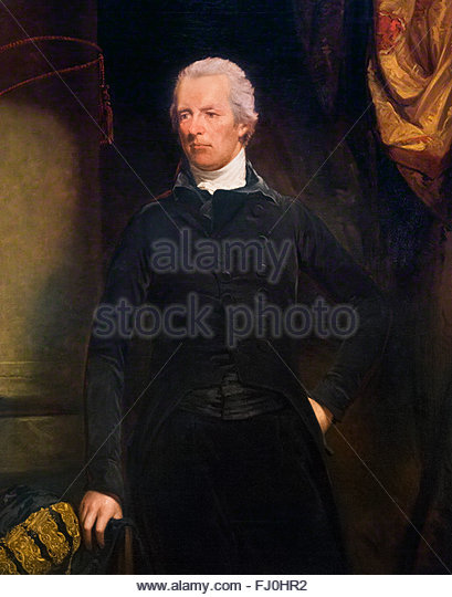 William Pitt the Younger, British Prime Minister at the end of the 18th and beginning of 19th centuries. Portrait - Stock Image