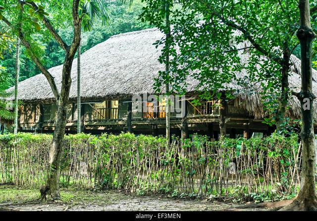 Tay house, Vietnam Museum of Ethnology, Hanoi, Vietnam - Stock Image