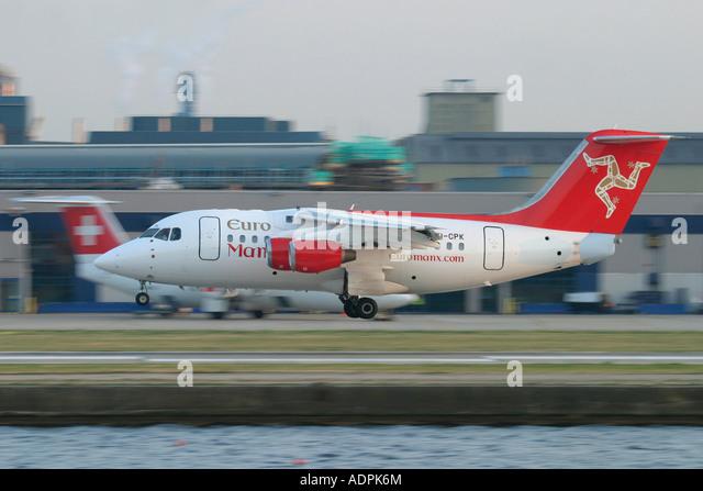 EuroManx BAE Systems Avro 146-RJ70 - Stock Image