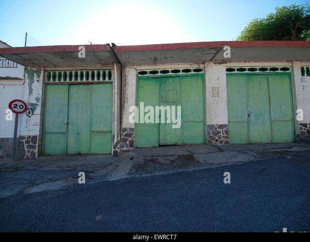 Green Garage Doors Stock Photos Green Garage Doors Stock