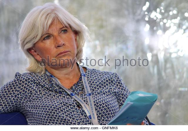Jouy En Josas, France. 30th Aug, 2016. Laurence Tubiana, French ambassador in charge of climatic change, as seen - Stock Image