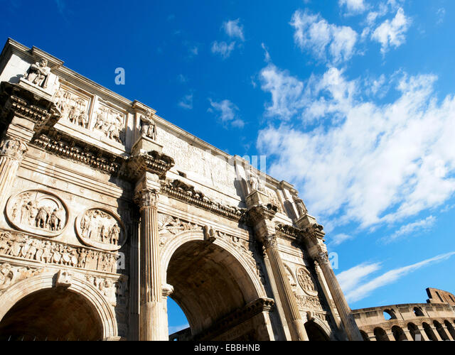 The Arch of Constantine - Rome, Italy - Stock Image