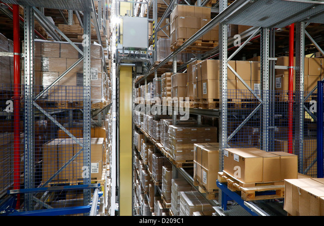 fully automated warehouse stock photos fully automated. Black Bedroom Furniture Sets. Home Design Ideas
