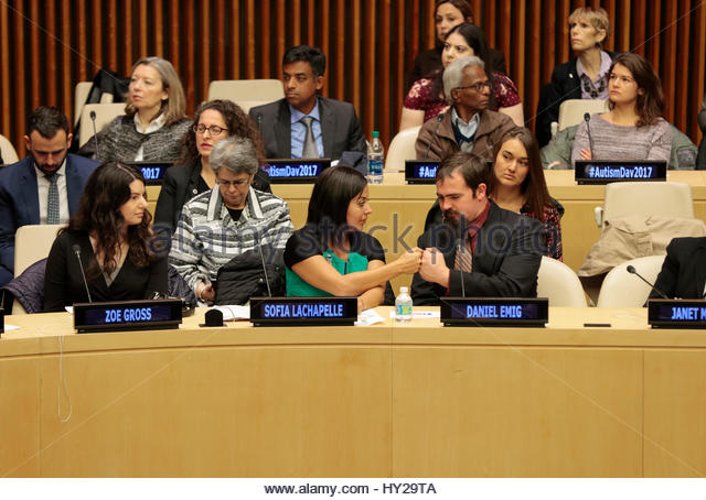 United Nations, New York, USA. 31st Mar, 2017. Sofia Lachapelle along with hundreds of guests participated on the - Stock Image