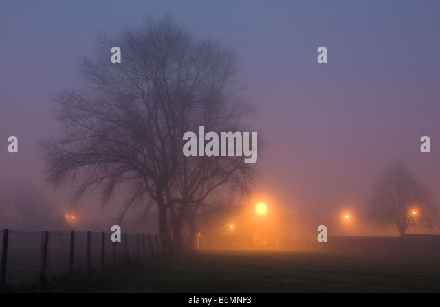 Early Morning Fog in Billingham Cleveland England - Stock Image