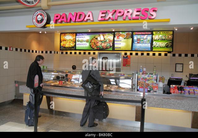 Washington DC Ronald Reagan Washington National Airport DCA terminal concourse concession food vendor business Panda - Stock Image