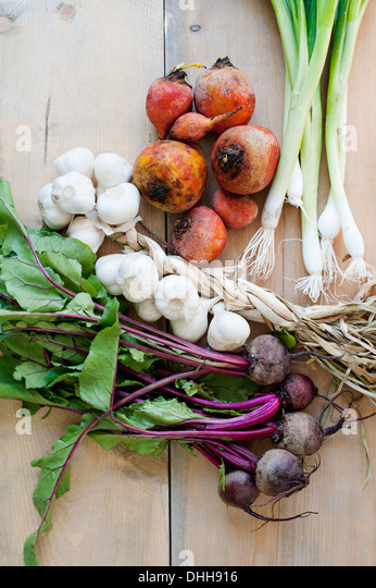 Fresh, homegrown vegetables - Stock Image