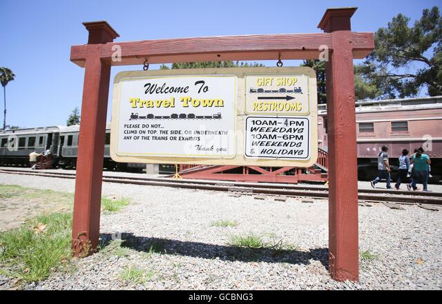 Travel Town Museum in Los Angeles. - Stock-Bilder
