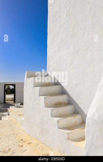 South of Tunisia, Djerba,the ancient Fadh Loon mosque,detail - Stock-Bilder
