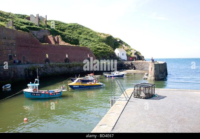 Porthgain Harbour Pembrokeshire Boats Stock Photos