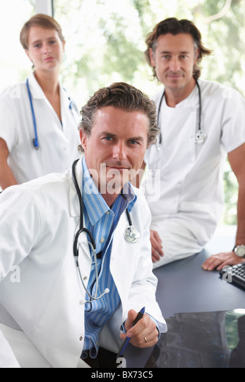 Portrait of doctors and nurse - Stock Image