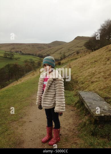 Girl in Peak District - Stock Image