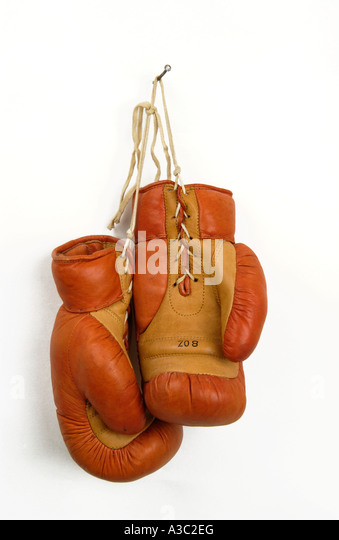 Pair of boxing gloves - Stock Image