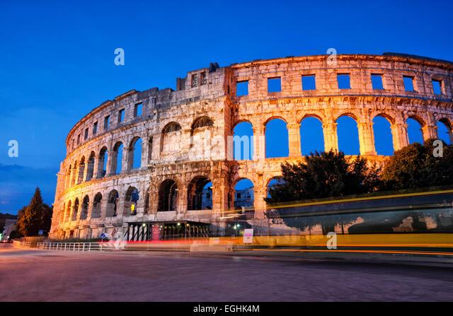 Pula Amphitheater, Arena - Croatia - Istria - Stock-Bilder