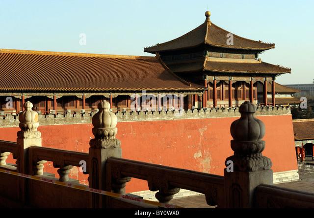 Wumen Gate in Forbidden City, Beijing, China. - Stock-Bilder