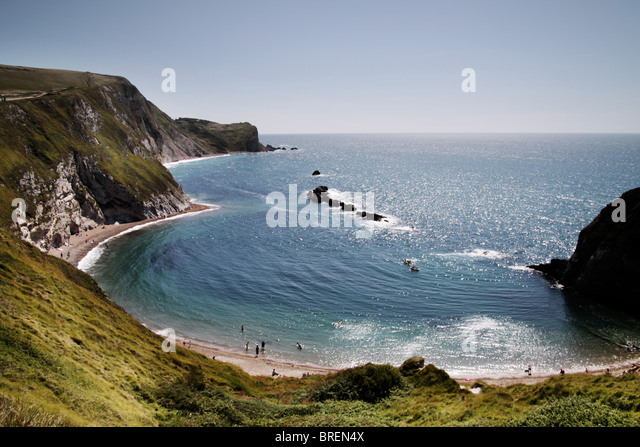 Dorset coastline,England,UK - Stock-Bilder