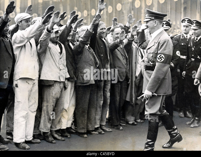 Hitler with workers - Stock-Bilder