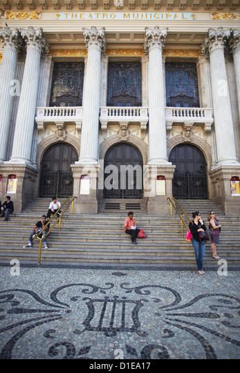 Theatro Municipal (Municipal Theatre), Centro, Rio de Janeiro, Brazil, South America - Stock-Bilder