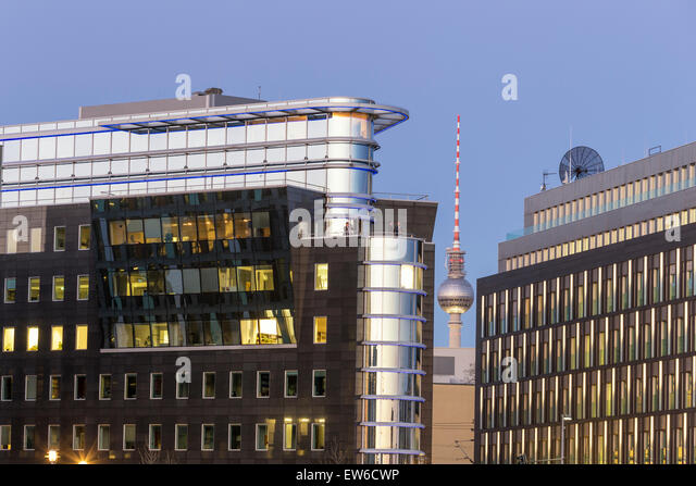 Modern architecture, Alex TV Tower,  Berlin , Germany - Stock Image