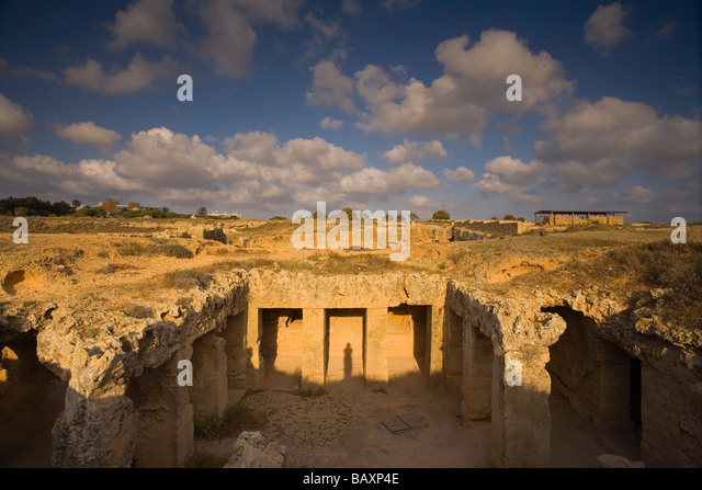 The Tombs of the Kings, Necropolis, Archaeology, Paphos, South Cyprus, Cyprus - Stock Image