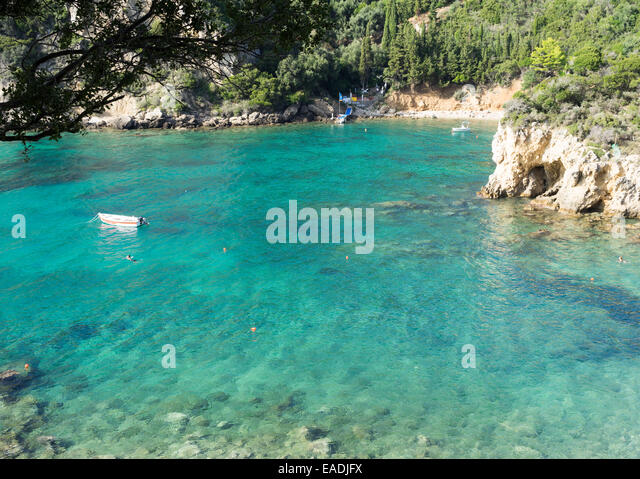 stunning paleokastritsa beach in corfu,greece - Stock Image