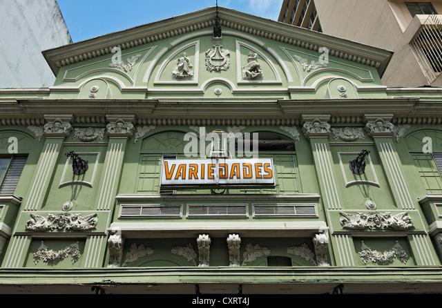 Vaudeville theater, Teatro Variedades, San Jose, Costa Rica, Central America - Stock Image